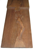 Click here to view larger images and more information about this carved redwood sculpture plank and plaque