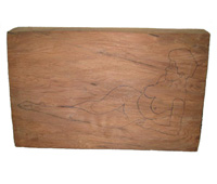 Click here to view larger images and more information about this pencil drawing on wood wall plaque